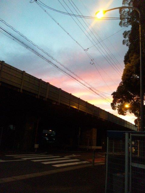 竜陽園 夕焼け
