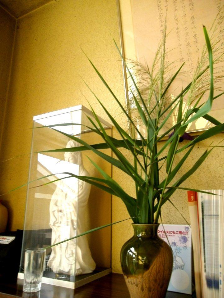 竜陽園 玄関の花瓶