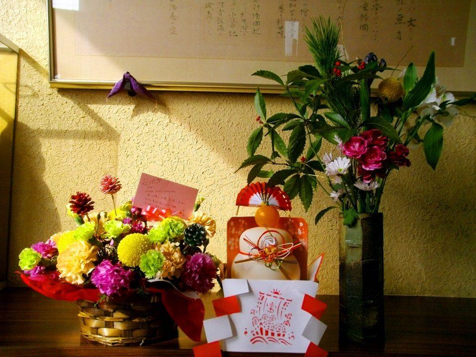 竜陽園 玄関のお正月飾り